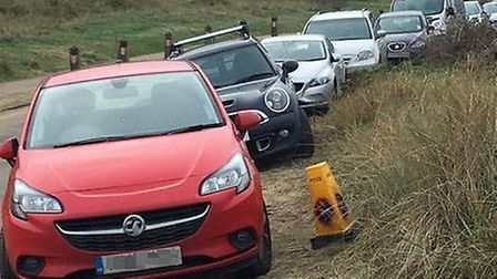 People in Winterton say visitors are blocking Beach Road as they did in this picture taken last year