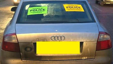 One of the vehicles seized by the Operation Sentinel East team in Lowestoft. Picture: Operation Sent