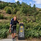 Pilgrim's progress: Amanda Maundrell on the 500-mile Camino trail Picture: Family collection