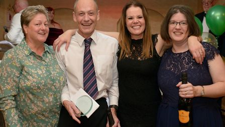 Simon Friston and Meichelle Anns were named ECCH Champions. Staff Directors Libby Goddard (far left)
