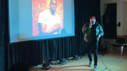 Michael Brick at the first knife crime concert in Norwich. Photo: Michael Brick