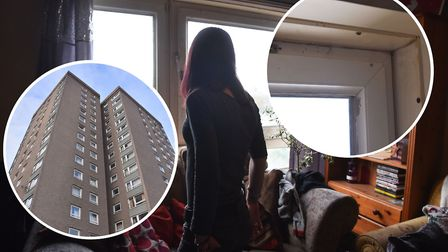 Cambria Gayfer, 51, lives on the 13th floor of Normandie Tower, Norwich. She said the council have n