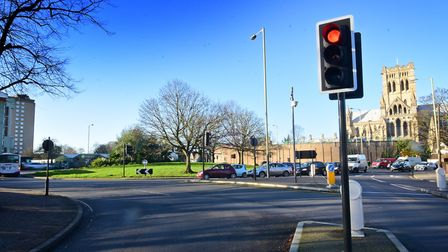The Grapes Hill roundabout taffic lights could be removed under a new scheme. Picture: ANTONY KELLY