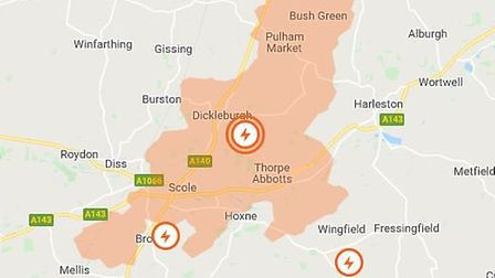 Homes on Norfolk Suffolk border have been hit by poiwer cuts. Picture: UK Power Networks
