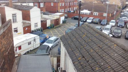 Roman Place in Great Yarmouth has been described as a 'parking disgrace'. Photo: Submitted/Archant