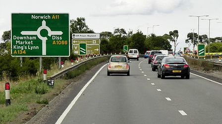 Transport links, including the A11 and A134, are an issue as South West Norfolk grows. Picture: Davi