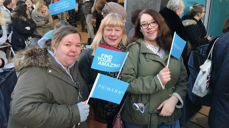 Hundreds of people queued to shop at the new Primark store, when it opened in Norwich on Wednesday m