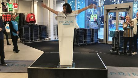Philippa Nibbs, director of sales for UK, south and east at the opening of the new Primark store in