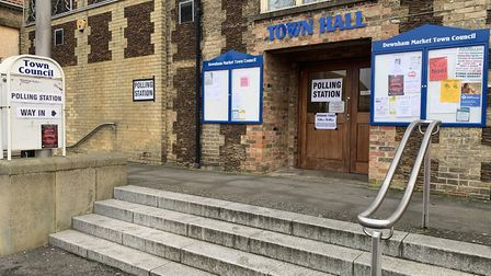 Downham Market Town Hall, where residents have been voting this morning. Photo: Sarah Hussain