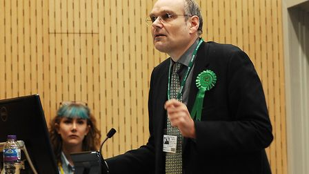 Michael De Whalley, Green candidate for North West Norfolk at the December 2019 elections Picture