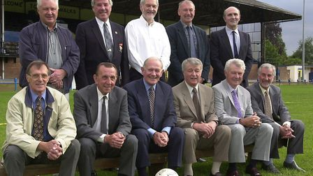 Veterans of the King's Lynn 1961/2 FA Cup run who attended the reunion at the Walks. Back row l-r