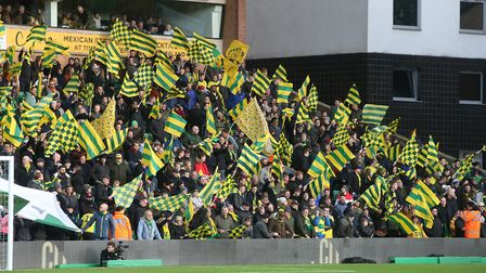 The flags were out in force again at Carrow Road as City hostes the Blades Picture: Paul Chesterton/