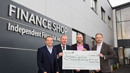 The directors of The Finance Shop, Andy Parkes (left), Scott Oliver (centre right) and Nick Buchan,