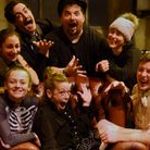 The Lost in Translation Circus team as they prepare for their production of A Circus Carol. From lef