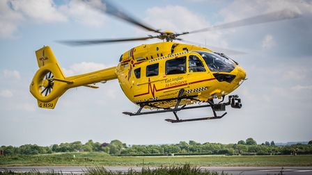 The East Anglian Air Ambulance (EAAA) has flown a cyclist to hospital after a crash with a lorry. Ph