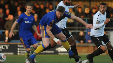 King's Lynn Town's Michael Gash in action during the FA Trophy first round win over Dover Athletic P