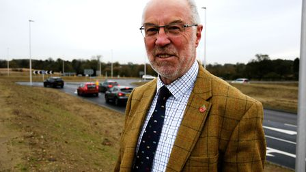 Martin Wilby, Norfolk County Council cabinet member for highways, infrastructure and transport, at t