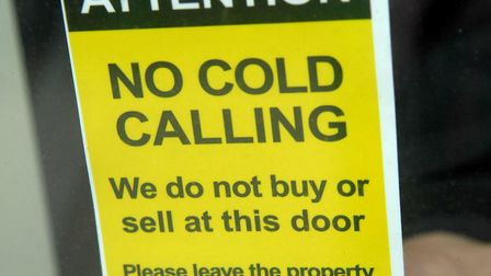 No Cold Calling window sticker. Picture: Archant