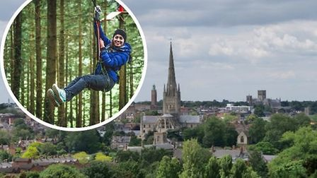 A city councillor dreams of instaling a sixty-foot zip wire from Mousehold Heath into the heart of N