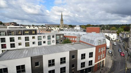 Views from the Rooftop Gardens in Norwich Picture: ANTONY KELLY