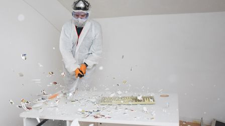 Vent your anger on china and furniture at the Rage Rooms. Picture: DENISE BRADLEY