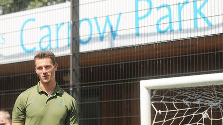 Norwich City defender Christoph Zimmermann at a Community Sports Foundation Summer Soccer School at