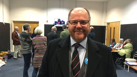 The Conservatives' George Freeman who has held his seat in Mid Norfolk. Picture: Archant