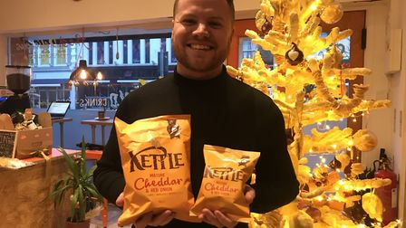 Garry Steel of Kettle Foods hopes the quirky cheese Christmas tree will shine a light on the work th