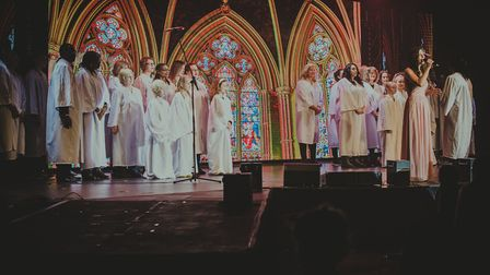 The cast of The Wonder 2019 performed by SOUL Church on Mason Road in Norwich. Picture: Arthur Rudd