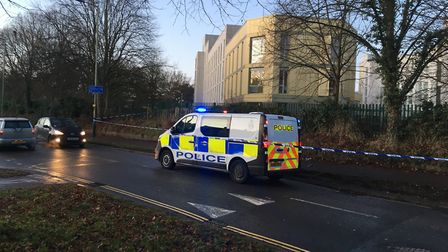 Police were called to Bluebell Road after reports that a man had been stabbed. Photo: Dan Grimmer