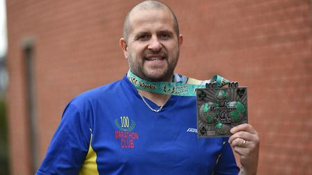 Dereham runner Ian Odgers joined an exclusive club in 2018 when he completed 100 marathons in 100 we