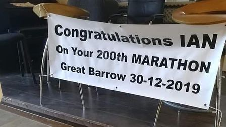 Dereham runner Ian Odgers completed his 200th marathon at the Great Barrow Challenge. Picture: Court