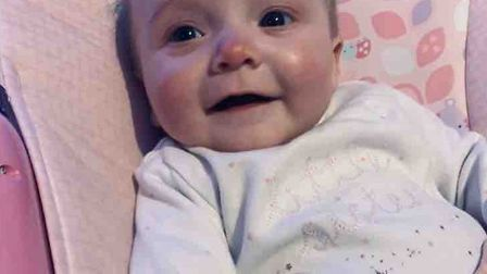 Felicity-Jane Mina Eva Eagle, who has died at just six months old. Picture: Courtesy of Abbie Jackso
