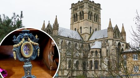 Relics said to be fragments of Jesus' manger were put on festive display at the Cathedral of St John