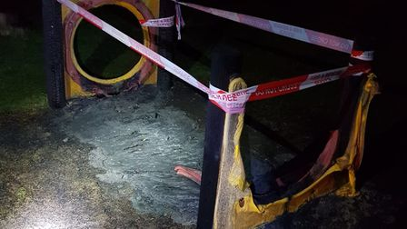 Police have made two arrests after an arson attack on a playground in Gayton. Picture: King's Lynn P