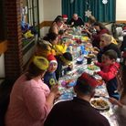 The NR5 hub based at Cage Road Community Centre hosted a free Christmas dinner for 100 adults and ch