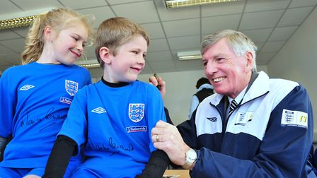 1966 England World Cup star Martin Peters at Waveney Youth FC, Lowestoft. Picture: Nick Butcher
