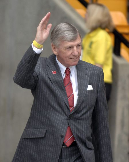 Martin Peters visits Carrow Road in 2008. Picture: Andy Darnell