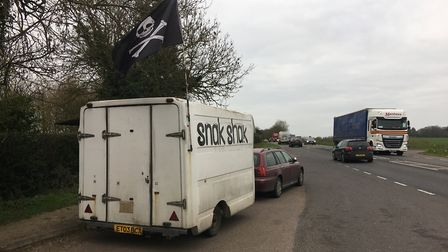 Snak Shak on the A140 between Newton Flotman and Tasburgh which was given a zero food hygiene rating