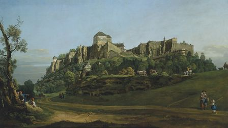The Fortress of Königstein Castle from the North by by Bernardo Bellotto. Pic: Norfolk Museums Servi