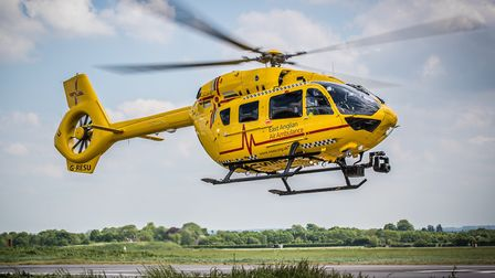 The East Anglian Air Ambulance (EAAA) responded to a medical emergency in Great Yarmouth. Photo: EAA