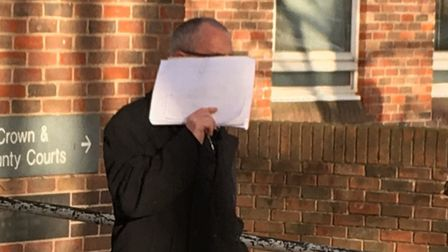 Steven Clouting leaving Norwich Magistrates Court. PIC: Peter Walsh.