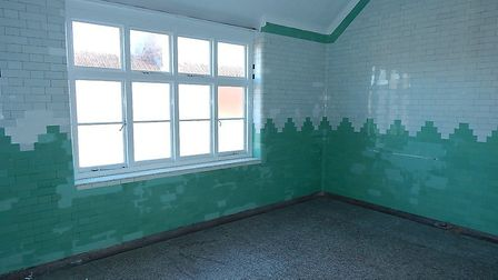 One of the rooms inside the former Cromer hospital and Cottage pub in Louden Road, Cromer. Picture: