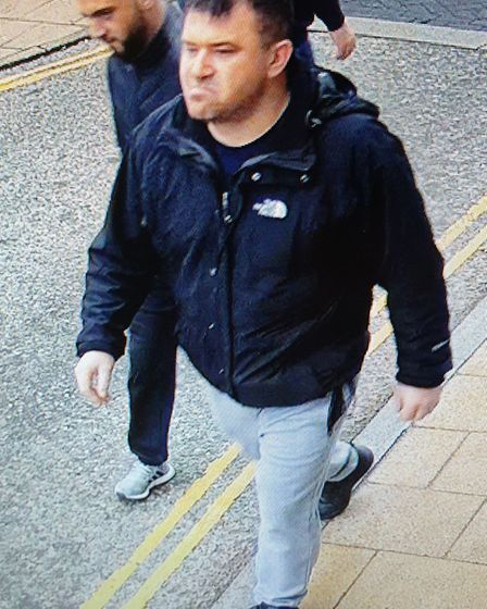 Police are appealing for help to identify two men following a theft in Diss. Picture: Norfolk Police