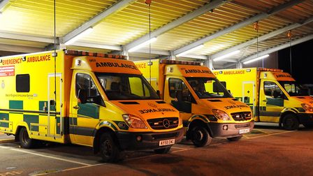 A man and a woman were taken to hospital after a two car crash on the A1101 on Tuesday evening Pictu