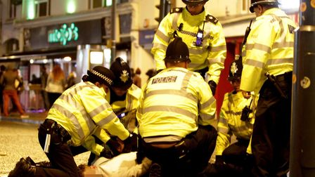 Celebrating NewYears 2015 in Norwich, too many drinks of alcohol and this guy finds himself arrested