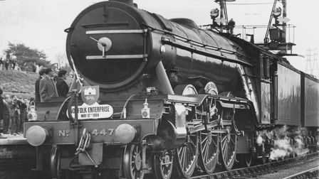 Flashback to 1968, when the Flying Scotsman train arrived at Thorpe Station, Norwich. Pic: Archant L