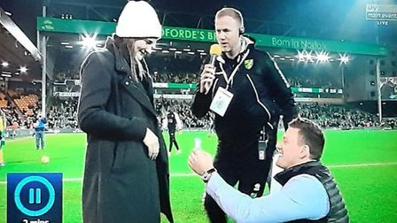 Emily Anthony, 26 and Joe Holloway, 32, were features on Sky Sports ahead of kick off at Carrow Road