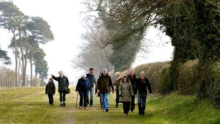 Walking the Boudicca Way in south Norfolk Credit: Bill Smith