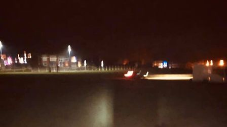 The car was spotted by a passer by at 9pm in the Runton Road car park in Cromer. Picture: Steph Rose